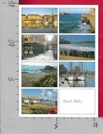CARTOLINA VG FRANCIA - SAINT MALO - La Cote D'emeraude - Vedutine Multivue - 10 X 15 - ANN. 2000 - Saint Malo