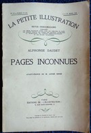 Alphonse Daudet - Pages Inconnues - La Petite Illustration N° 473 - Roman N° 210 - 29 Mars 1930 . - Bücher, Zeitschriften, Comics