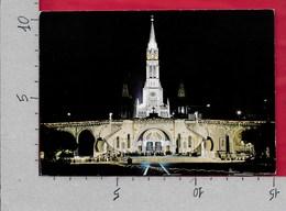 CARTOLINA VG FRANCIA - LOURDES - La Basilique Illuminate - 10 X 15 - ANN. 1988 - Lourdes