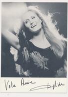 DALIDA -  Autograph, Signed , Dedicace, ORIGINAL, Film Actors, 1971 Vintage Old Photo Postcard - Autógrafos