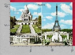CARTOLINA VG FRANCIA - PARIS - Basilique Du Sacre Coeur - Tour Eiffel- 10 X 15 - ANN. 1970 - Francia