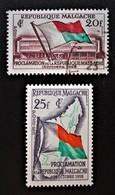 PROCLAMATION DE LA REPUBLIQUE 1959 - NEUF*/O 1959 - YT 338/39 - MI 442/43 - Madagascar (1960-...)