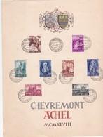 HERDENKINGSBLAD/FEUILLET SOUVENIR ABDIJ/ABBAYE VAN/DE ACHEL ET CHEVREMONT - Cartes Souvenir