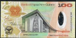 PAPUA NEW GUINEA P37 100 KINA 2008 HYBRID COMM.35th ANNIV. UNC. - Papouasie-Nouvelle-Guinée