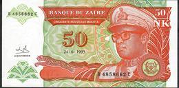 ZAIRE P51 50 NOUVEAUX MAKUTA 1993   UNC. - Zaïre