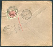 1918 Persia Ahmad Shah 6ch Cover. Bender Guez - Chahroud - Iran