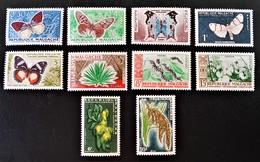 PAPILLONS ET CULTURES 1960 - NEUFS * - YT 341/50 - MI 445/54 - Madagascar (1960-...)