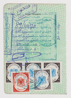 #37318 Libya 1990s Consular Fiscal Revenue Stamps On Page - Libye