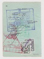 #37329 IRAN 1980s Consular Fiscal Revenue Stamps On Page - Iran