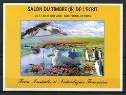 TAAF 2006 Bloc N° 15 ** (N° 451) Neuf MNH Superbe C 18 € Faune Oiseaux Albatros Birds Fauna Salon Ecrit Timbres - Französische Süd- Und Antarktisgebiete (TAAF)