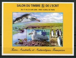 TAAF 2006 Bloc N° 15 ** (N° 451) Neuf MNH Superbe C 18 € Faune Oiseaux Albatros Birds Fauna Salon Ecrit Timbres - Franse Zuidelijke En Antarctische Gebieden (TAAF)