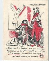 "Carte  Humoristique Sur Une   ""  INTERPRETATION  "" - Histoire"