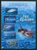 TAAF Bloc N° 18 ** ( 472/476 ) Neuf MNH Superbe C 10,50 € Faune Tortue Turtle Fauna Marine Iles Eparses Océan Indien - Blocs-feuillets