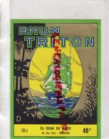 33 - BORDEAUX- ETIQUETTE RHUM TRITON- ETS RHUM DU MARIN - - Rhum