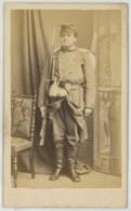 CDV Militaire Wulff Jeune à Paris . Guerre De 1870-71 . Un Mobile . Fusil . Paquetage . - Anciennes (Av. 1900)