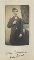 """CDV 1860-70 Delannoy (manuscrit) à Paris , Légendée """"Jean Tramblet Docteur Ramet"""". - Anciennes (Av. 1900)"""