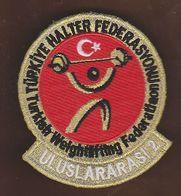 AC -  TURKISH WEIGHTLIFTING FEDERATION INTERNATIONAL REFEREE 2 PATCH - Ecussons Tissu