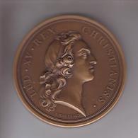 LUD XV REX CHRISTIANISS - SALUS GENERIS HUMANI - Superbe Médaille Graveur Marteau - Adel