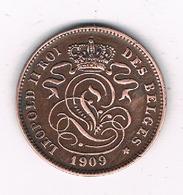 2 CENTIMES 1909 FR    BELGIE /8674/ - 1865-1909: Leopold II