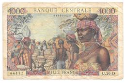 Billet De 1000 Francs Etats De L'Afrique Equatoriale Lettre D - Billets