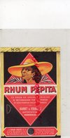 33- BORDEAUX- ETIQUETTE RHUM PEPITA -BARBET & FOURNIER - Rhum