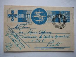 Entier Du Portugal 0.25 Escudos 1939 - Porto -> Porto - Postwaardestukken
