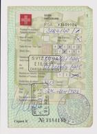 #52000 Switzerland Visa Sticker On Page 1980s Bulgarian - Documents Historiques
