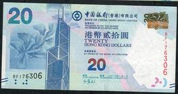 HONG-KONG  P341a 20 DOLLARS 2010 # BF      VF - Hong Kong