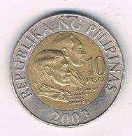 10 PISO 2003  FILIPPIJNEN //8679/ - Philippines