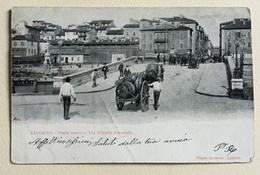 LIVORNO - PONTE NUOVO E VIA VITTORIO EMANUELE 1903 VIAGGIATA FP - Livorno