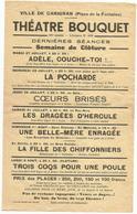 Programme  Ville De Carignan  Theatre Bouquet - Programmes