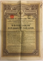 2 Actions Russes. Russie. Action. 1894. 125 Roubles. - Russie