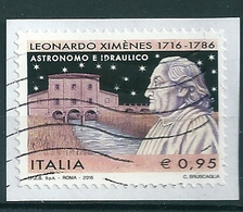 2016 LEONARDO XIMENES USATO - 6. 1946-.. Repubblica