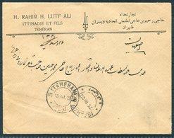 1922 Persia Ahmad Shah 6ch Cover. Teheran - Isfahan - Iran