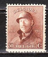 174*  Roi Albert Casqué - Une Bonne Valeur - MH* - LOOK!!!! - 1919-1920 Roi Casqué