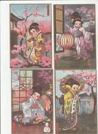 "6 CPA:GEISHA JAPON CASA ÉDITRICE ""BALLERINI & FRATINI FIRENZE"" - Illustrateurs & Photographes"