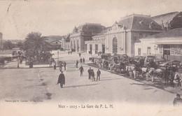Nice - La Gare Du P.L.M. - Phototypie E. Lacour Marseille 1025 - Circulé 1903 - Transport Ferroviaire - Gare