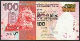 HONG-KONG  P214b 100 DOLLARS 2012   # FD      VF - Hong Kong