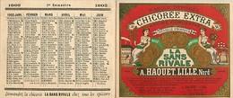 Gd Format -ref Y348- Calendrier 10cms X 8,5cms X 2volets - Publicité Chicorée Extra A Haquet Lille -nord - - Calendriers
