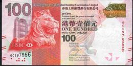 HONG-KONG  P214c 100 DOLLARS 2016   # QC      VF - Hong Kong