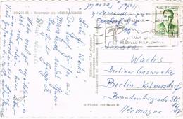 30793. Postal MARRAKECH (Marruecos) 1960. Flamme Festival Flocklorique - Morocco (1956-...)