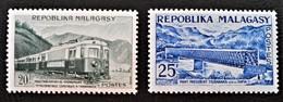 MOYENS DE COMMUNICATIONS 1962 - NEUFS * - YT 360/61 - MI 473/74 - Madagascar (1960-...)