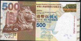 HONG-KONG  P215c 500 DOLLARS 2016   # SR      AU-UNC. - Hong Kong