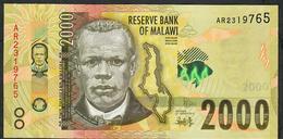 MALAWI P69b 2000 KWACHA  2018. # AR      UNC. - Malawi