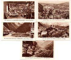 Lot De 5 Images Photos Régionales. Les Pyrénées, Cauterets, Foix, Artouste, Bagnères De Bigorre, Ravin De La Têt. - Vieux Papiers