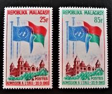ADMISSION AUX NATIONS-UNIES 1962 - NEUFS * - YT 362/63 - MI 475/76 - Madagascar (1960-...)