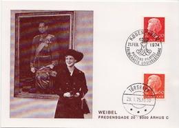 Postal History: Denmark Used Card - Royalties, Royals