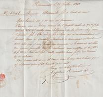 """AA220, Haute Marne, Andelot, LAC """"les Eaux Sont Si Basses Que Nous Ne Pouvons Pas Avant Août"""" 1842 - Transport"""