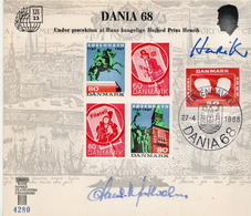 Denmark Card For Dania 68 - Philatelic Exhibitions