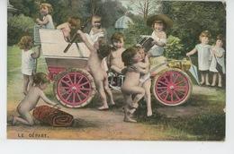 """ENFANTS - BEBES - Jolie Carte Fantaisie Bébés Et Automobile """"LE DEPART """" - Neonati"""